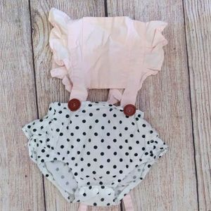 Ruffled jumpsuit romper summer outfit 12m